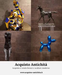 Acquisto e vendo bronzi e sculture moderne