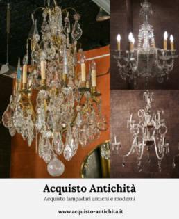 Acquisto lampadari antichi e moderni